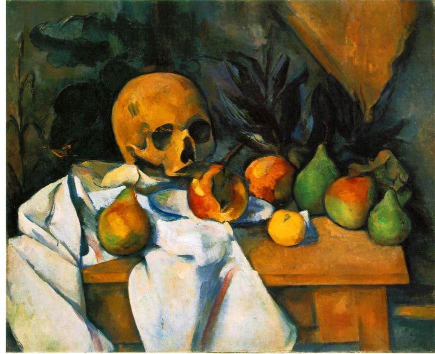 Paul Cezanne, nature morte au crâne, 1895