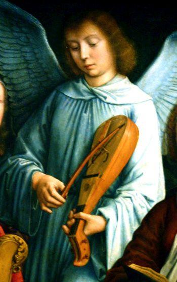 Gerard David, vers 1510, la Vierge parmi les vierges (détail)