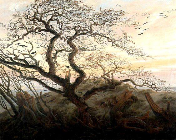 L'arbre au corbeaux de Caspar David Friedrich, 1822