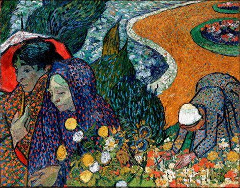 Vincent van Gogh (1853-1890), souvenir d'un jardin à Etten (les dames d'Arles)