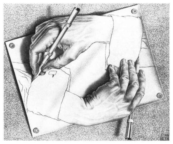 "Maurits Cornelis Escher, (1898-1972), ""Dessiner"""