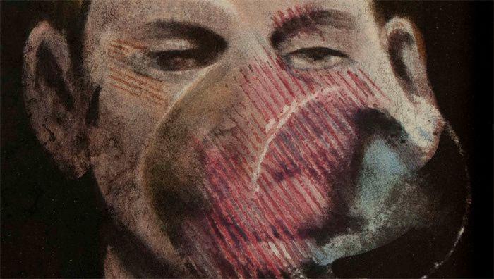 Francis Bacon, (1909-1992), étude pour un portrait de Peter Beard
