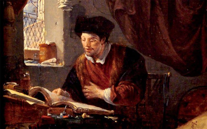 Thomas Wyck (1616-1677), cabinet d'alchimiste, détail