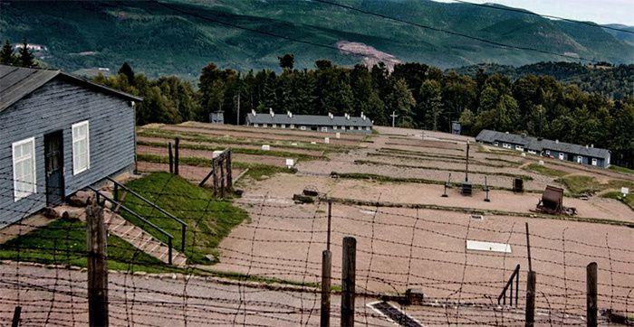 Une vue du camp de concentration nazi du Struthof, près de Natzwiller, en Alsace