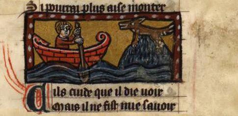 Une enluminure extraite du manuscrit du « Roman de Renart », 1301-1400