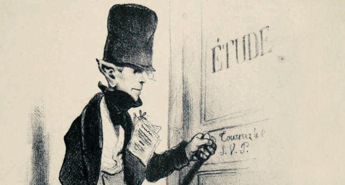 Honoré Daumier (1808-1879), Le petit clerc, dit le « saute ruisseau »