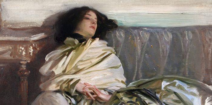 John Singer Sargent (1856-1925), Nonchaloir, détail