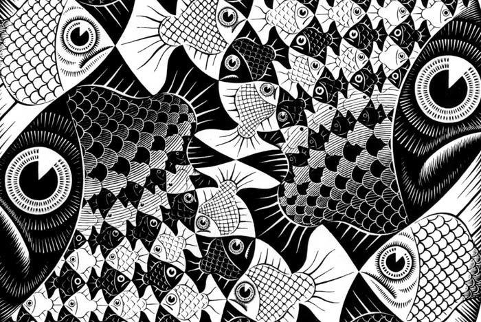 Oeuvre de Maurits Cornelis Escher (1898-1972), détail