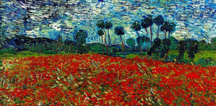 Vincent van Gogh (1853-1890), Champ de coquelicots, Auvers-sur-Oise (1890), détail