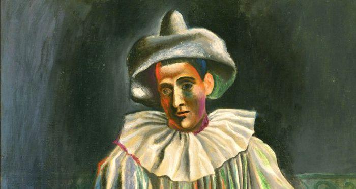 Pablo Picasso, (1881-1973), Pierrot, 1918, détail