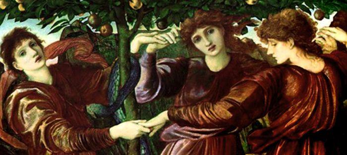 Edward Burne-Jones (1833-1898), Les hespérides, détail