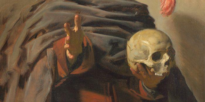 Frans Hals (vers 1580-1666) Jeune homme tenant un crâne, détail