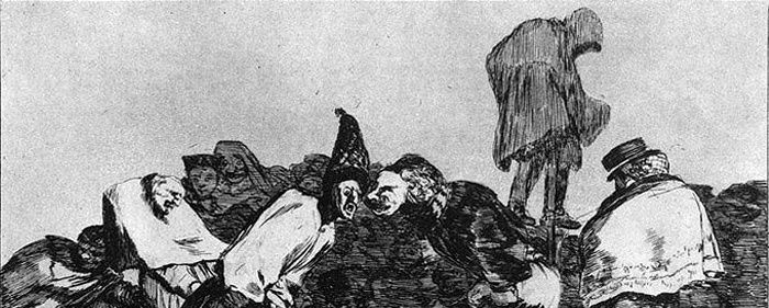 Francisco Goya, (1748-1828), Disparate de carnaval, détail