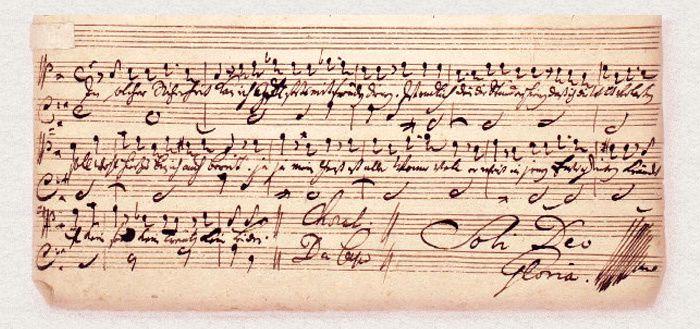 De la main du Maître de Leipzig, ces quelques mots : Choral Da Capo // Soli Deo Gloria
