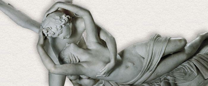 Antonio CANOVA (1757-1822) Psyché ranimée par le baiser de l'Amour, détail