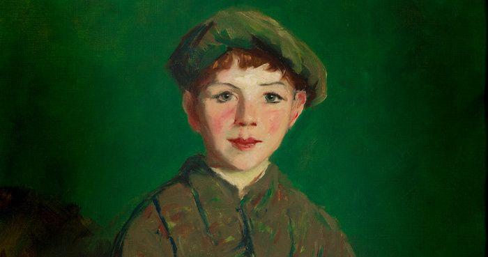Robert Henri, (1865-1929) Irish lad, détail