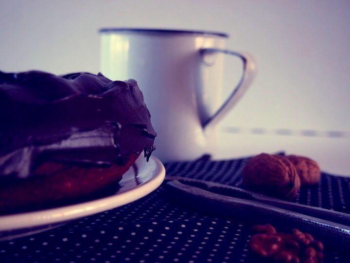 Bundt cake chocolat, noix &amp&#x3B; miel