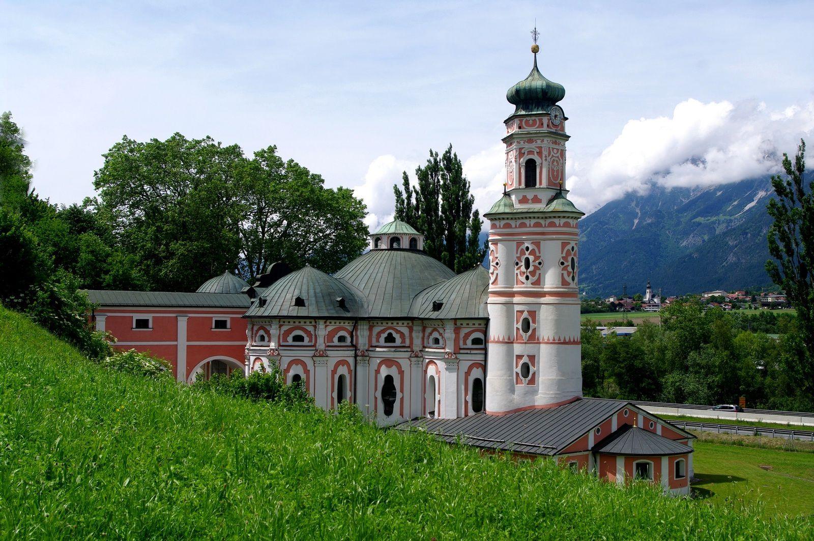 église de Volders, très belle oeuvre baroque du Tyrol terminée en 1564