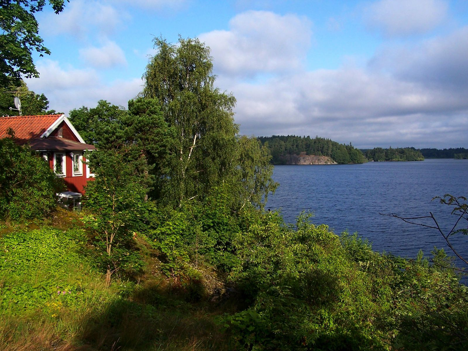 bord de lac en Suède