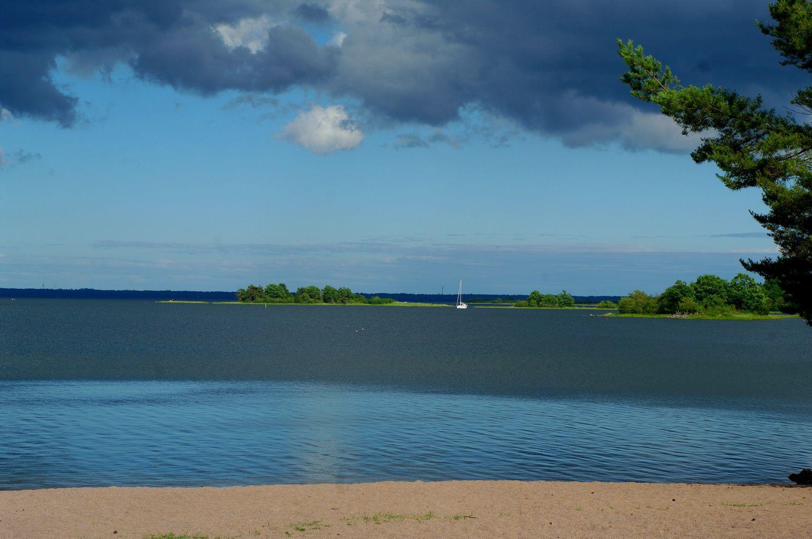 après Öland petit bivouac tranquille au bord de la mer