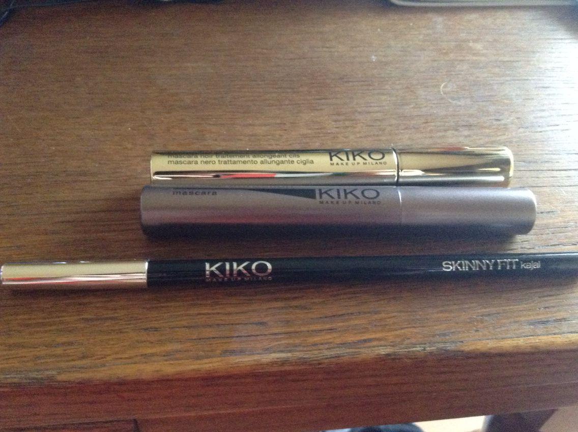 Kiko mascara et crayon