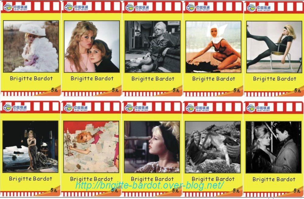 Télécartes Brigitte Bardot...