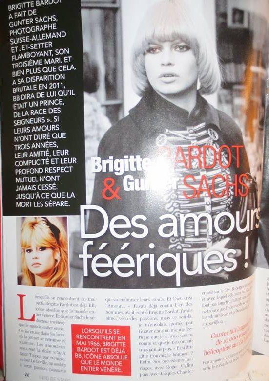 Brigitte Bardot dans &quot&#x3B;Info de stars&quot&#x3B;...