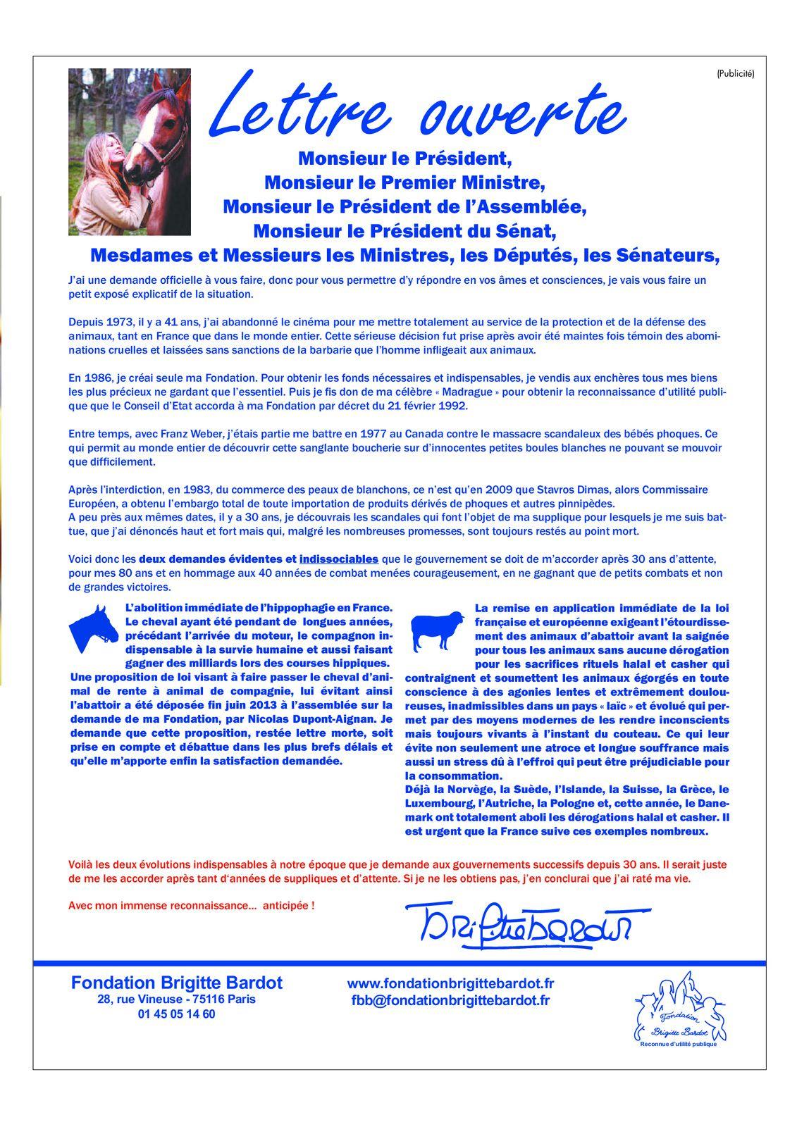 Source : http://www.leparisien.fr/laparisienne/actu-people/soutien-inattendu-de-brigitte-bardot-a-francois-hollande-12-09-2014-4129351.php