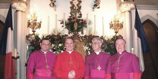 Mgr André BAUWELEERS Mgr Dominique PHILIPPE Mgr Jean-Paul MARTY Mgr Damien DIEFENTHAL