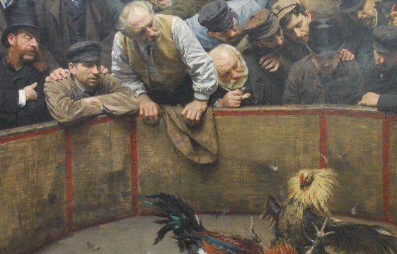 Détail d'une œuvre de Rémy Cogghe, conservée au musée de la Piscine de Roubaix - Musée de la Piscine