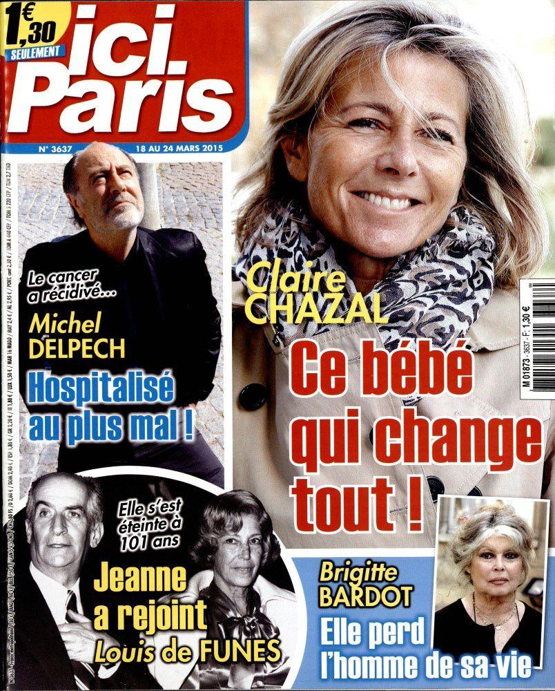 Ici Paris n° 3637 du 18 Mars 2015 &quot&#x3B;Brigitte Bardot&quot&#x3B;
