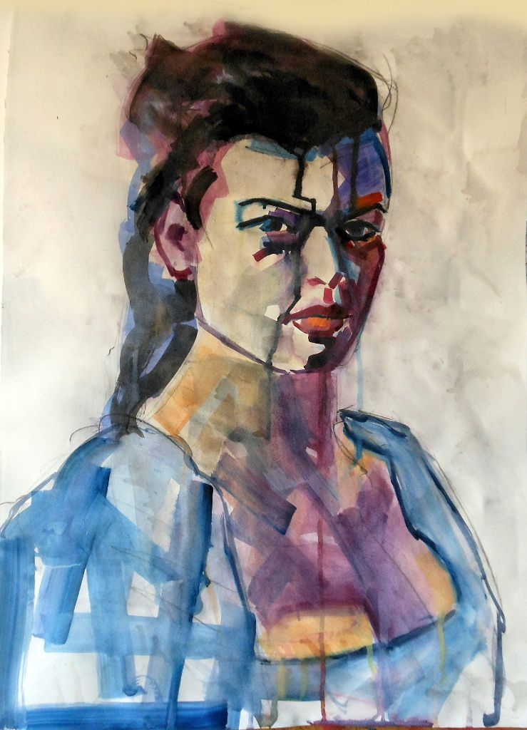 """Brigitte Bardot vu par """"Piotr""""...artiste peintre Polonais."""