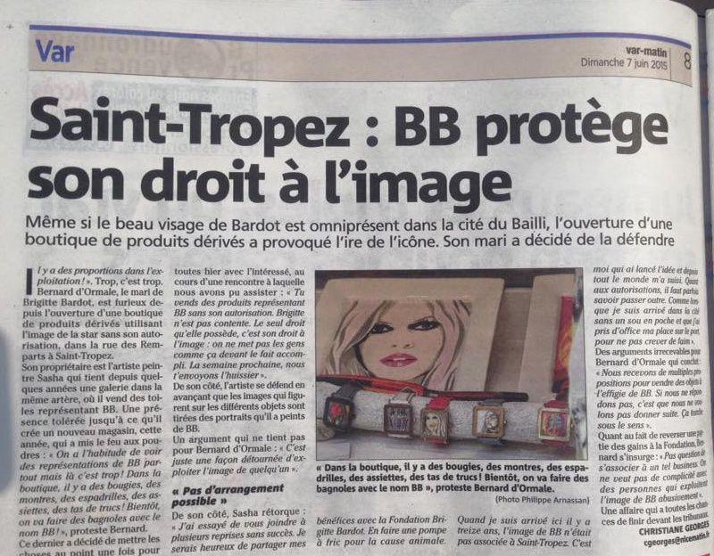 Brigitte Bardot protège son droit à l'image...