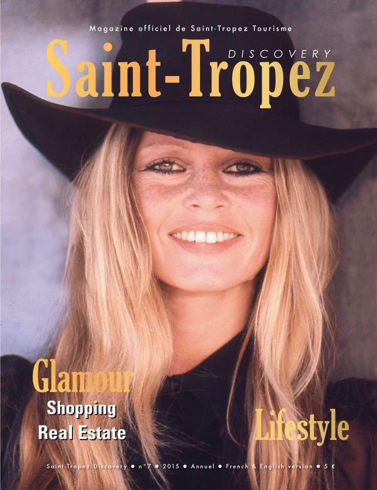 Brigitte Bardot en couverture du &quot&#x3B;Discovery Saint-Tropez 2015&quot&#x3B;