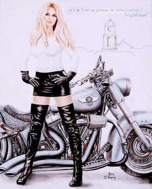 Les créations du peintre &quot&#x3B;Serge&quot&#x3B; de Saint-Tropez...