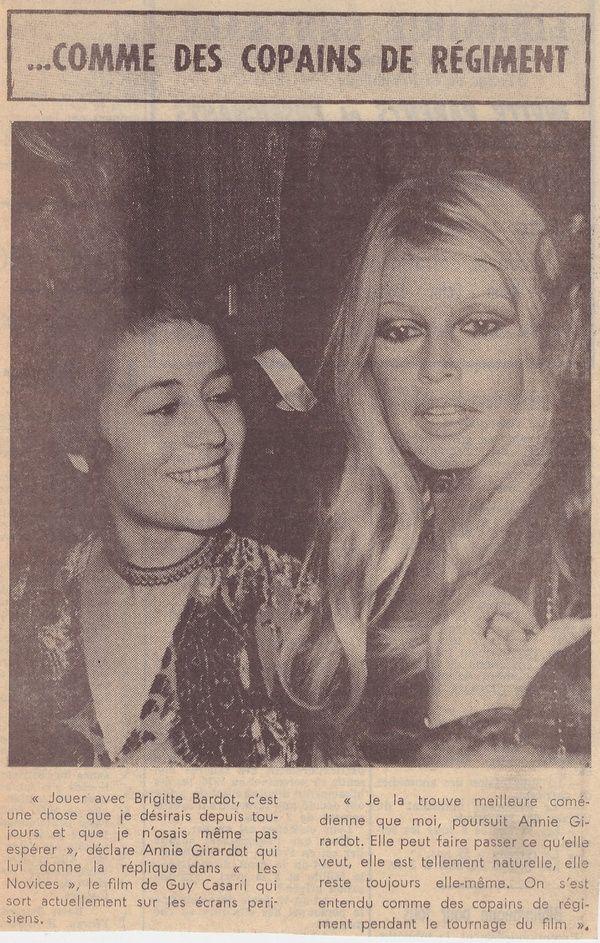 Brigitte Bardot...articles de presse du passé...1970
