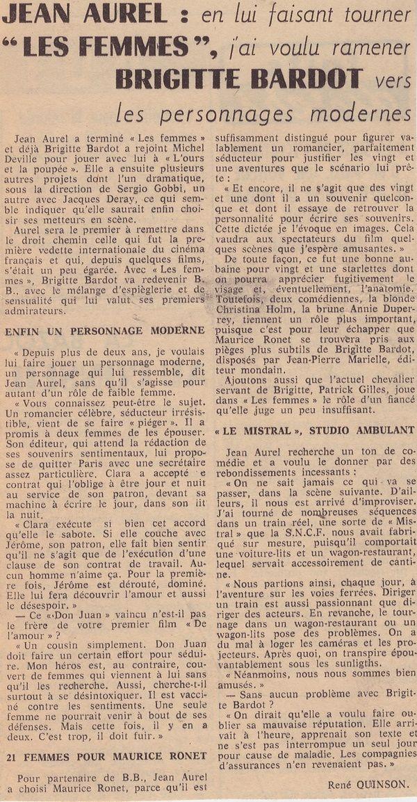 Brigitte Bardot...articles de presse du passé...1965