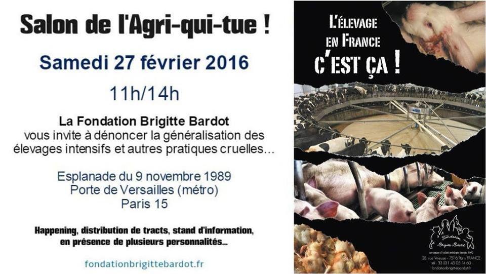 Salon de l'Agriculture : mobilisation contre l'exploitation animale !