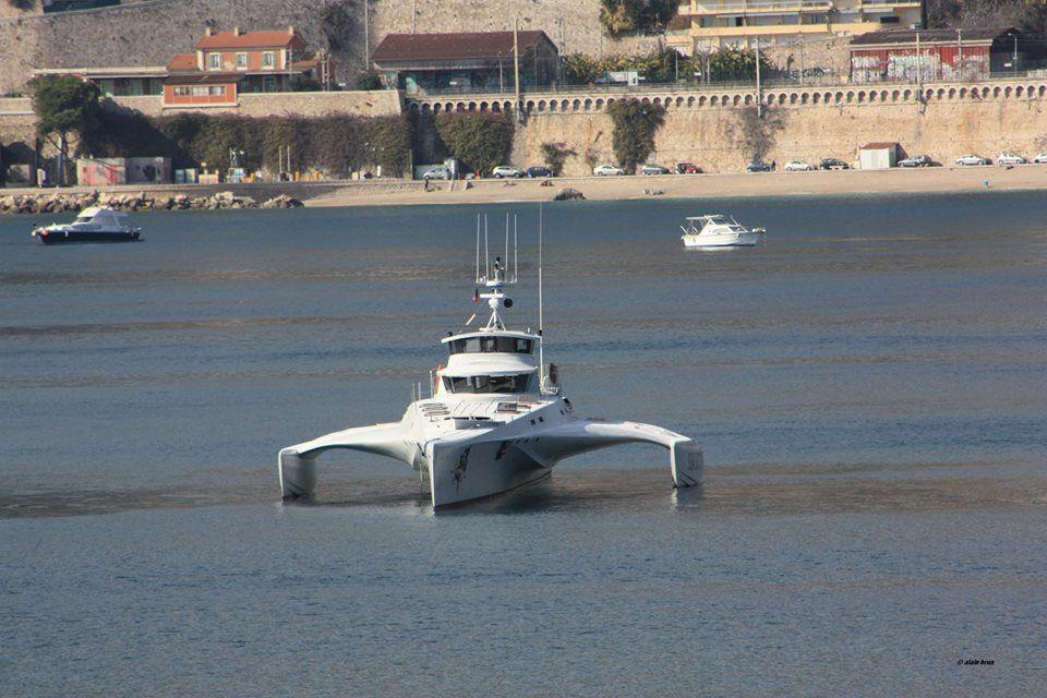 Le &quot&#x3B;Brigitte Bardot&quot&#x3B; de Sea Shepherd dans la rade de Villefranche