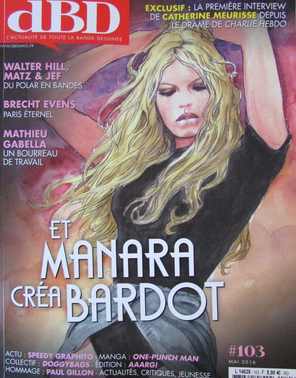 "Brigitte Bardot dans ""D BD"" de mai 2016..."