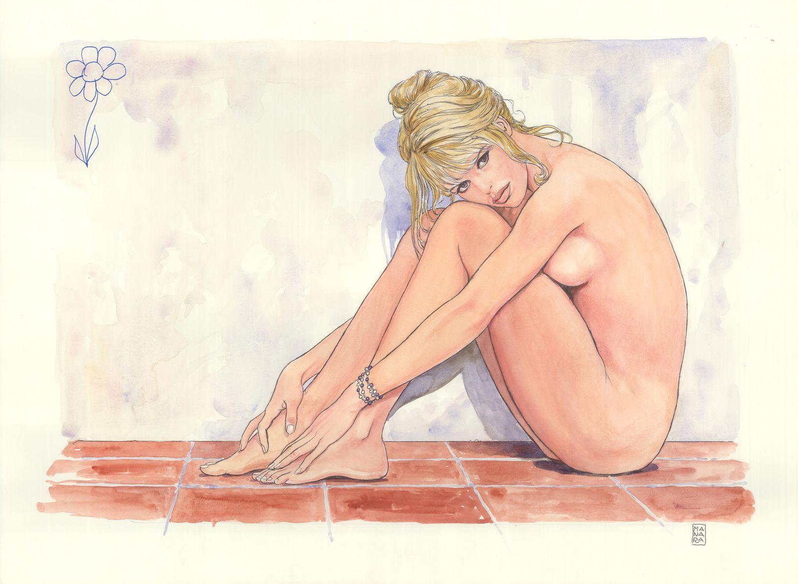Découvrez ces 6 illustrations de Brigitte Bardot, vue par le maître de l'érotisme Milo Manara