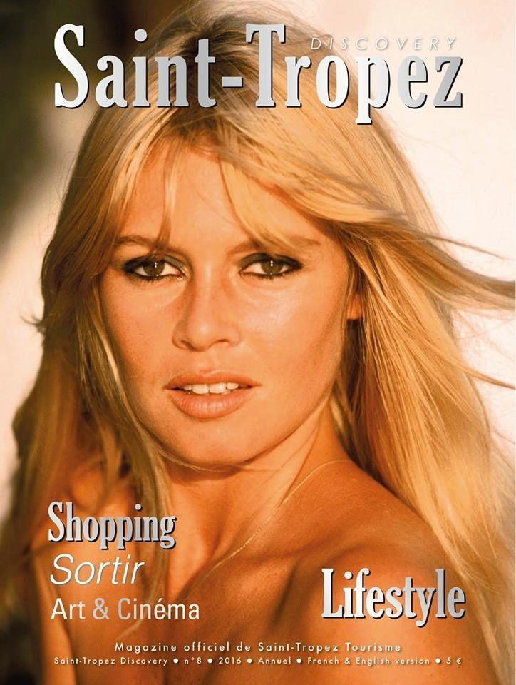 Brigitte Bardot en couverture du Discovery magazine de 2016