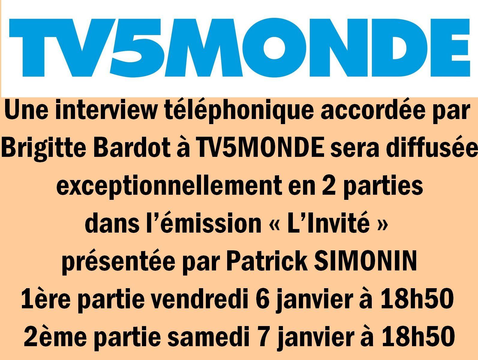 Brigitte Bardot Interview exclusive !