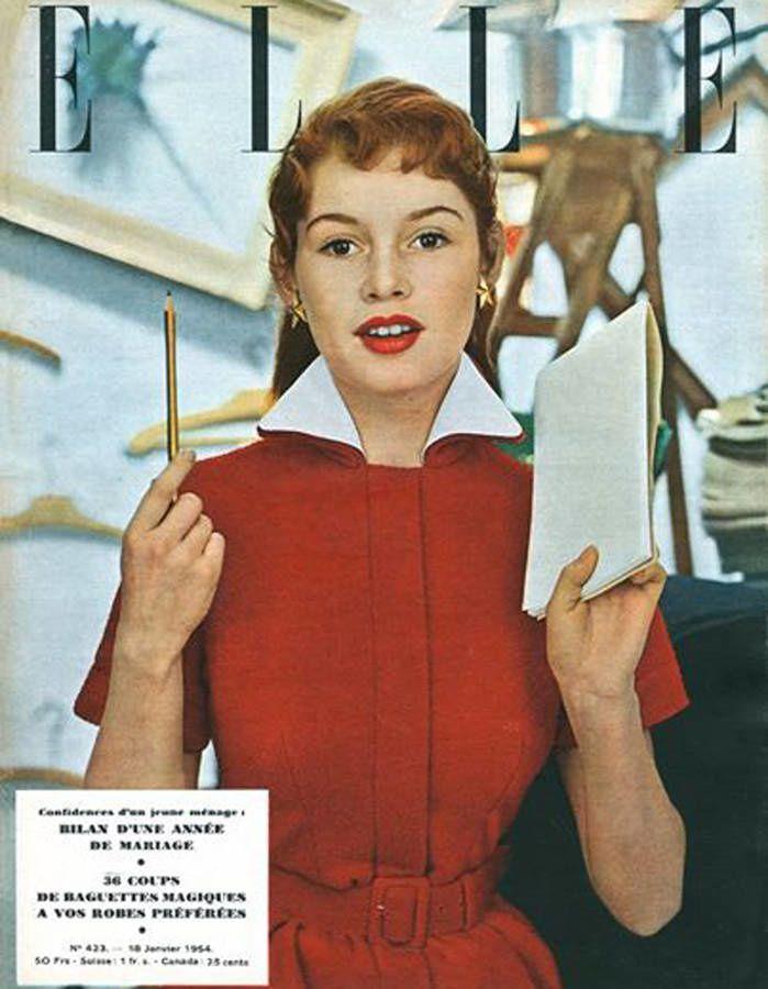 Brigitte Bardot...Les plus belles couvertures du magazine Elle !