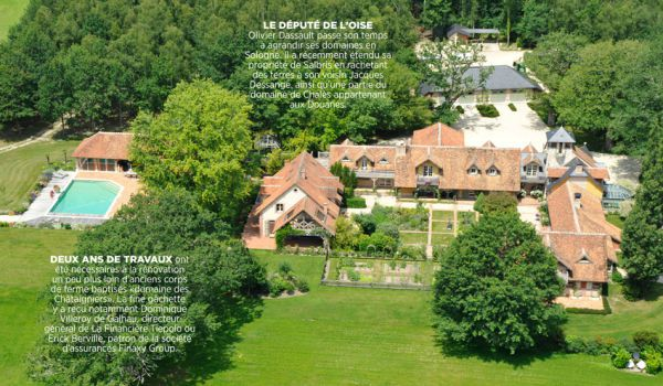 Le domaine d'Olivier Dassault, en Sologne, est l'un des plus courus par les authentiques patrons chasseurs.