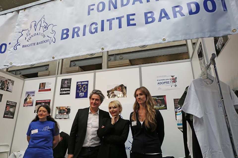 La fondation Brigitte Bardot au salon &quot&#x3B;Veggie World&quot&#x3B;