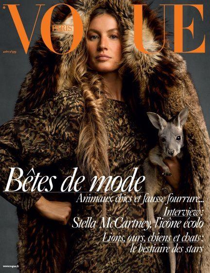 Brigitte Bardot dans Vogue d'août 2017