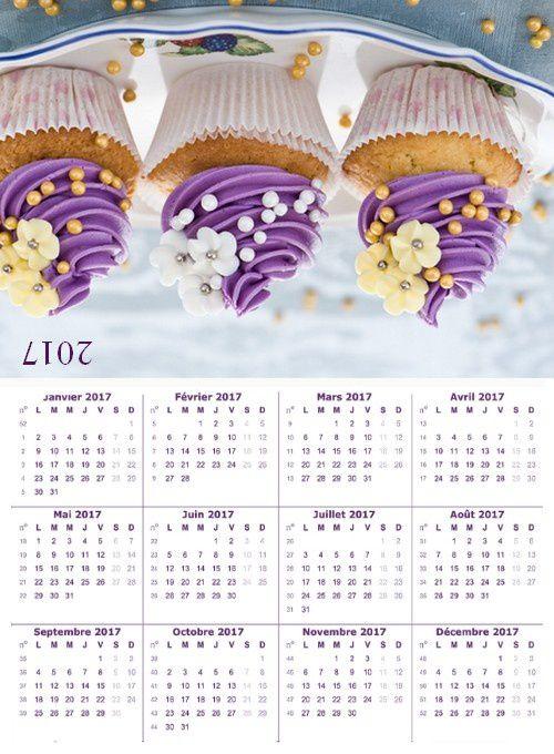 calendrier de poche 2017
