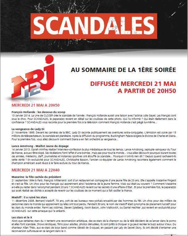 Les 2ers numéros de Scandales ce mercredi sur NRJ12.