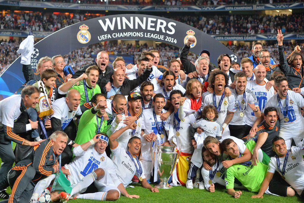 Audience finale Ligue des champions et remise de la coupe.
